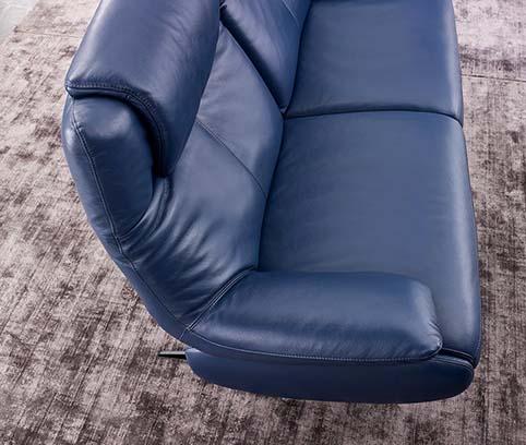 canape cuir pleine fleur bleu 4
