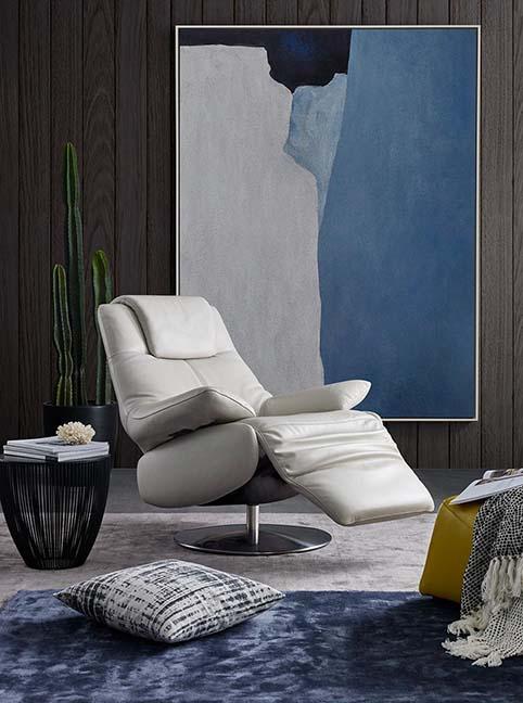 fauteuil cuir buffle relax blanc ouvert 2