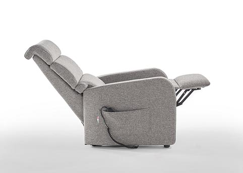 fauteuil relaxation lift tissu gris moderne qualite 2