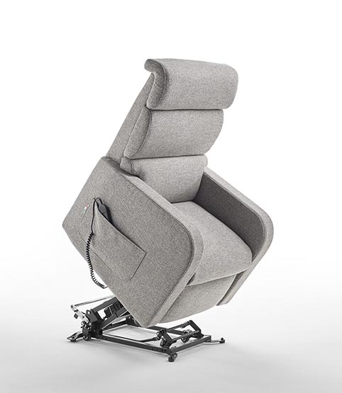 fauteuil relaxation lift tissu gris moderne qualite 3