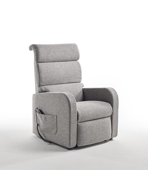 fauteuil relaxation lift tissu gris moderne qualite
