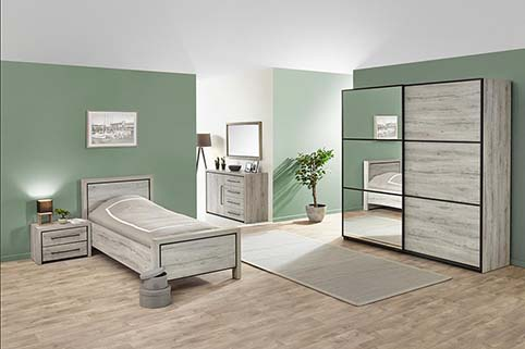 Chambre a Coucher lit simple Contemporaine