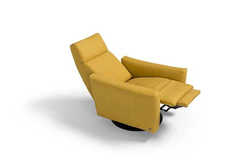 fauteuil relaxation lift cuir jaune design qualite