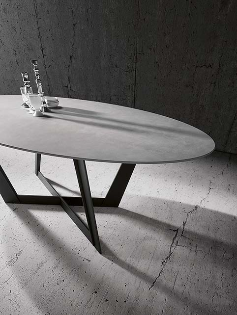 table ovale design chateau prayon