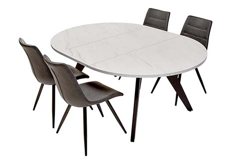 table ovale designalle a manger bois