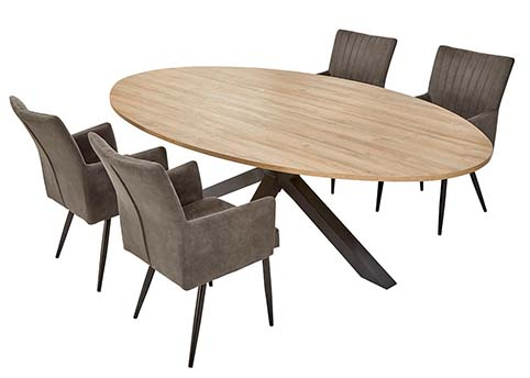 table ovale salle a manger bois