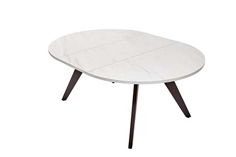 table ovale salle a manger contemporaine blanche