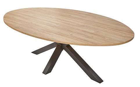 table ovale salle a manger contemporaine