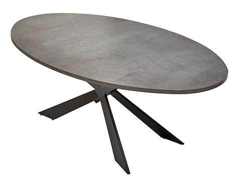 table ovale salle a manger moderne