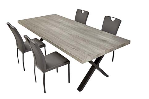 table rectangulaire salle a manger moderne 6 places