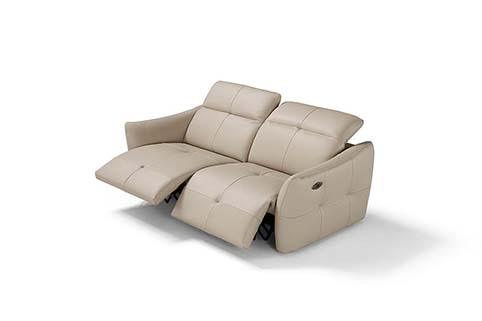 canape cuir design droit double relax
