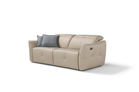 canape cuir design droit relax