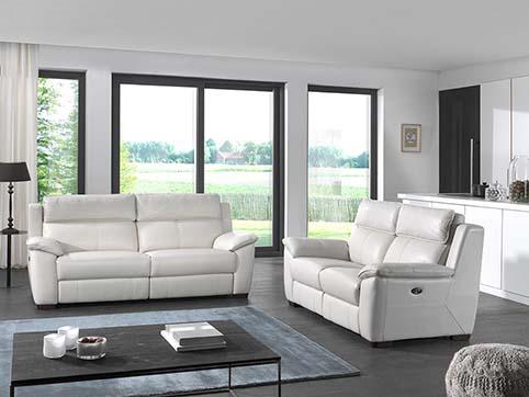canape cuir moderne  blanc