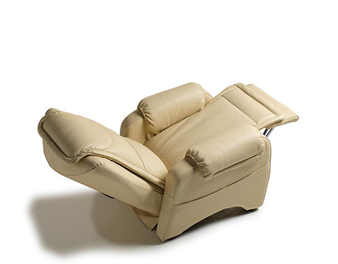fauteuil relax design cuir creme design qualite 2