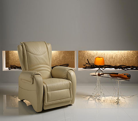 fauteuil relax design cuir creme design qualite