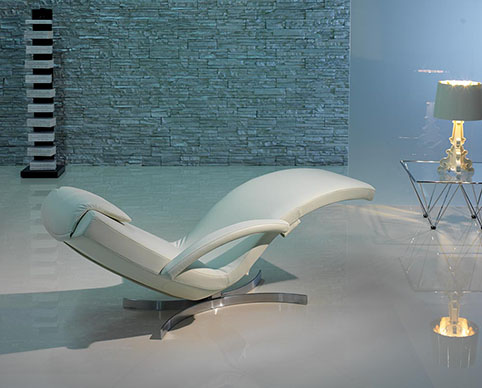 fauteuil relaxation design cuir blanc design 2