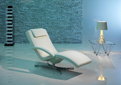 fauteuil relaxation design cuir blanc design