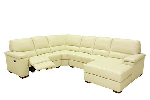 canape angle creme cuir relax 1