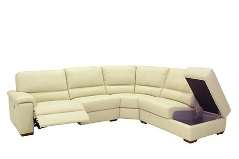 canape angle creme cuir relax 2