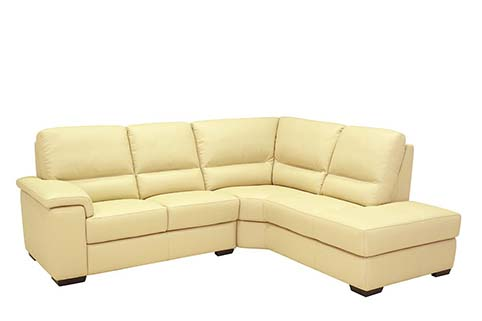 canape angle creme cuir relax