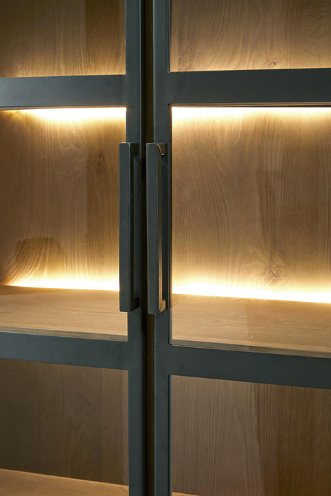 Vitrine dressoir salle a manger eclairage