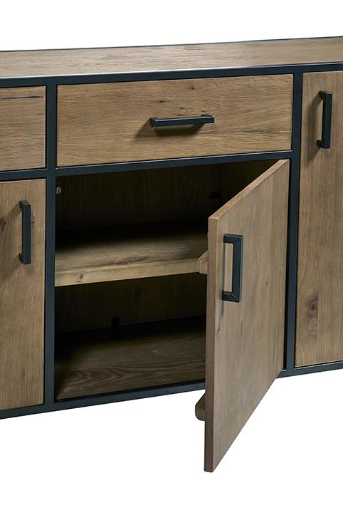 porte dressoir salle a manger 4 compartiments ouverts