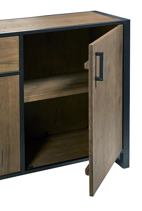 porte dressoir salle a manger compartiments ouverts