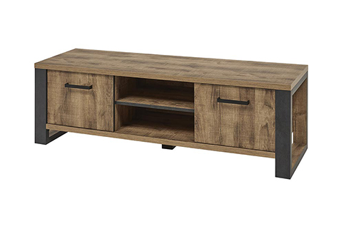 Meuble TV bas rangement bois ferme