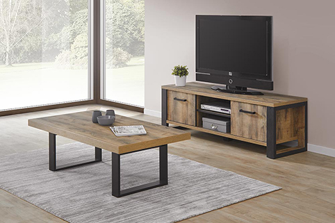 Meuble TV table complet bois