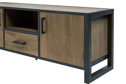 Meuble de salon tiroir portes tv cote