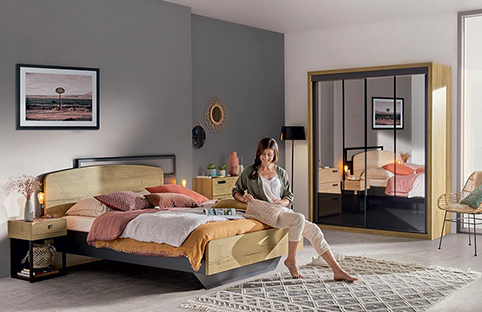 chambre a coucher design bois armoire