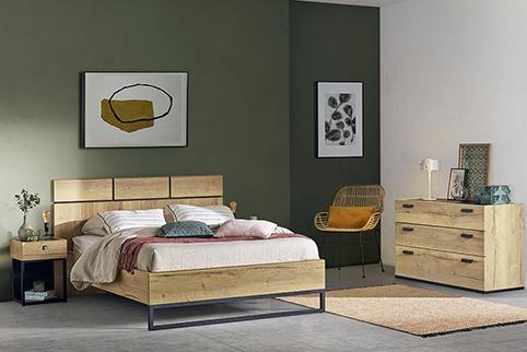 chambre a coucher design bois commode