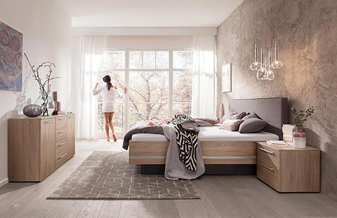 chambre a coucher design en bois natuel