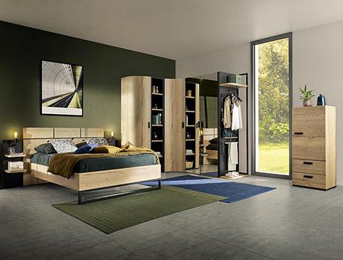 chambre a coucher moderne bois 2