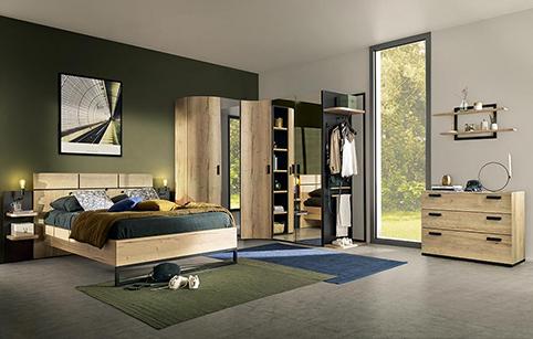 chambre a coucher moderne bois 3