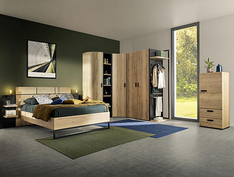chambre a coucher moderne bois