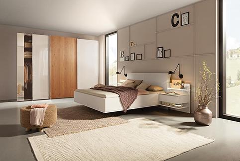 chambre a coucher moderne en bois naturel