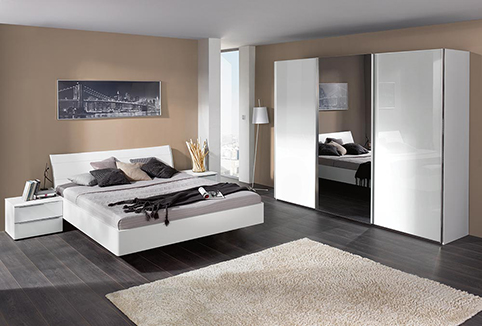 chambre a coucher moderne laque blanche
