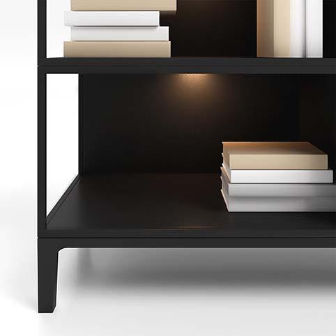 Meuble salle a manger rangement design bois noir