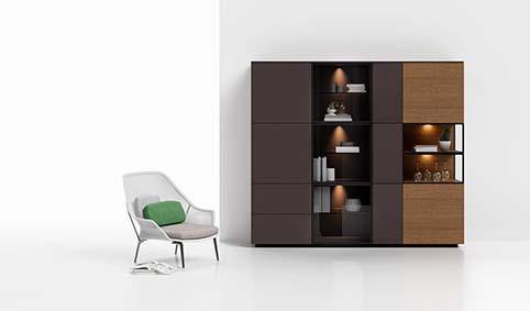 Meuble salle a manger rangement design bois
