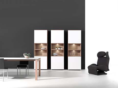 Meubles salle amanger design blanche