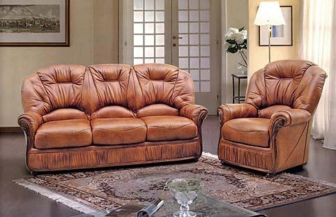 Canape cuir brun classique 2