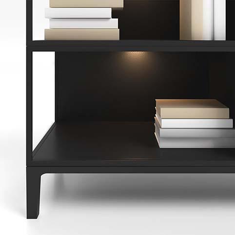 Meuble salon rangement design bois noir