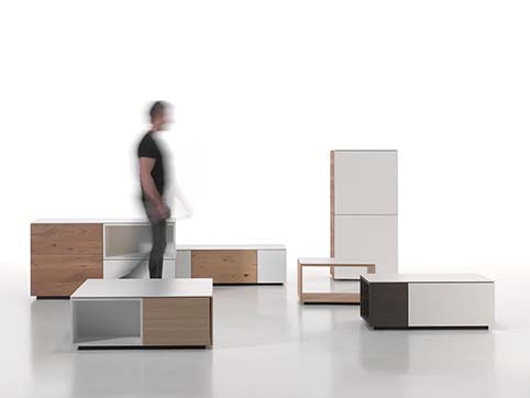 Meubles salon design divers bois