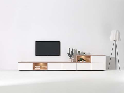 Meubles tv blanc salon design