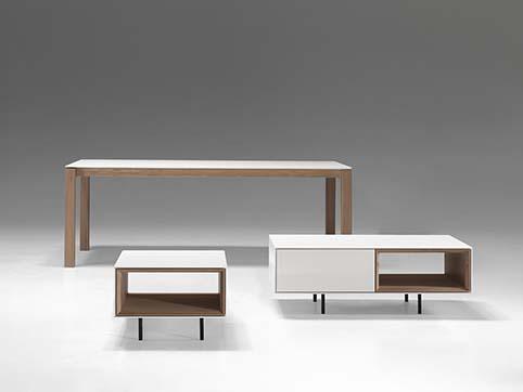 Table courte salon design avec accessoires