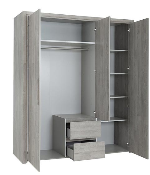 garde robe armoire chambre a coucher adulte ABBY 02