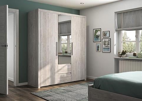 garde robe armoire chambre a coucher adulte ABBY 03