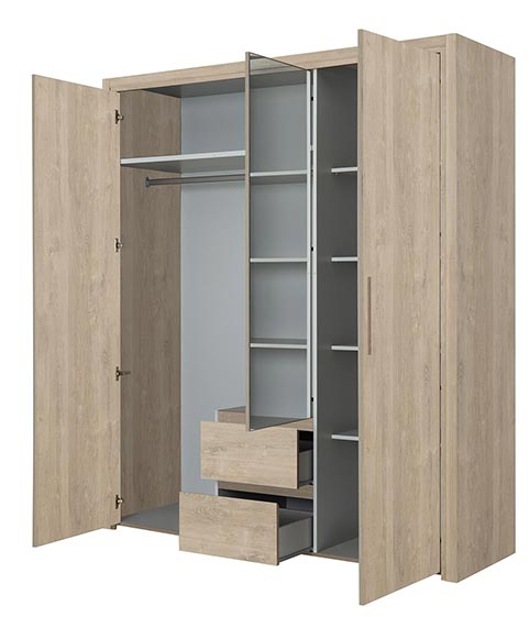 garde robe armoire chambre a coucher adulte ABBY 05