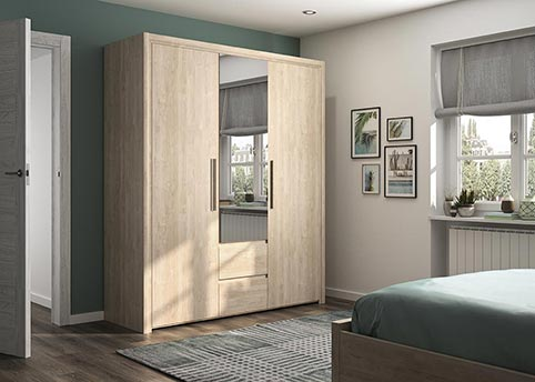 garde robe armoire chambre a coucher adulte ABBY 06